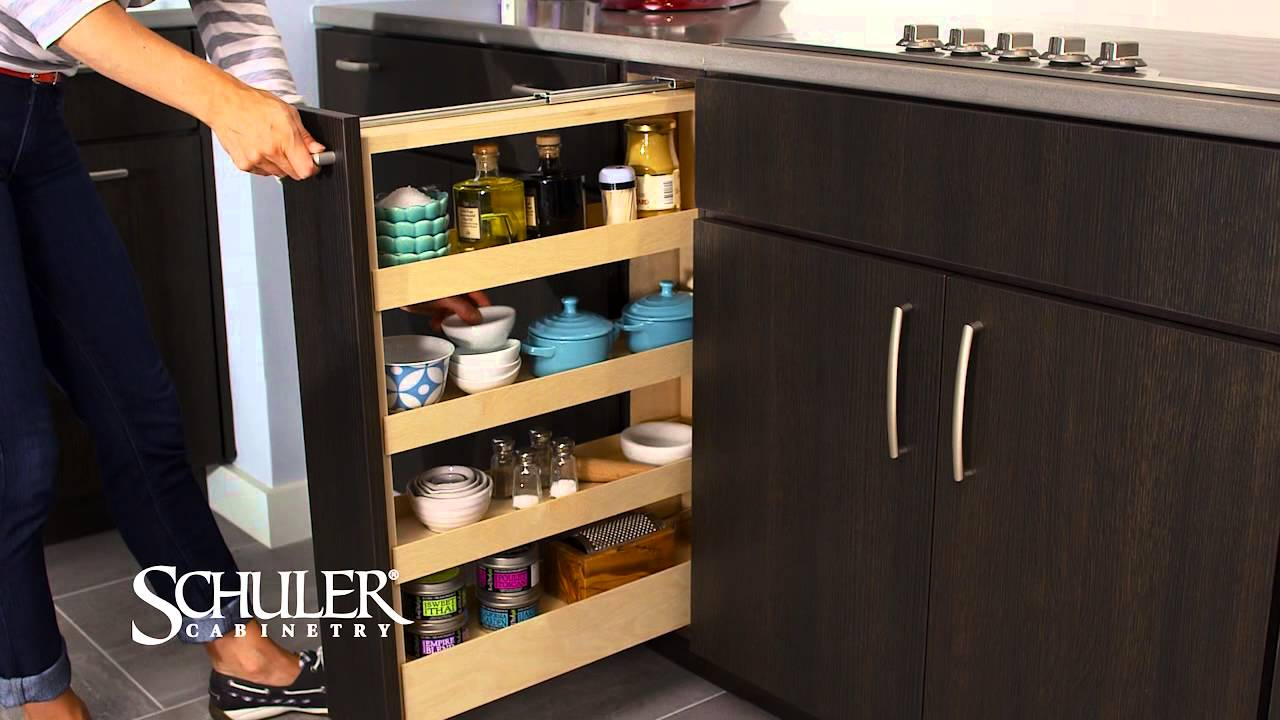 Schuler Cabinetry Pull Out Spice Rack Youtube