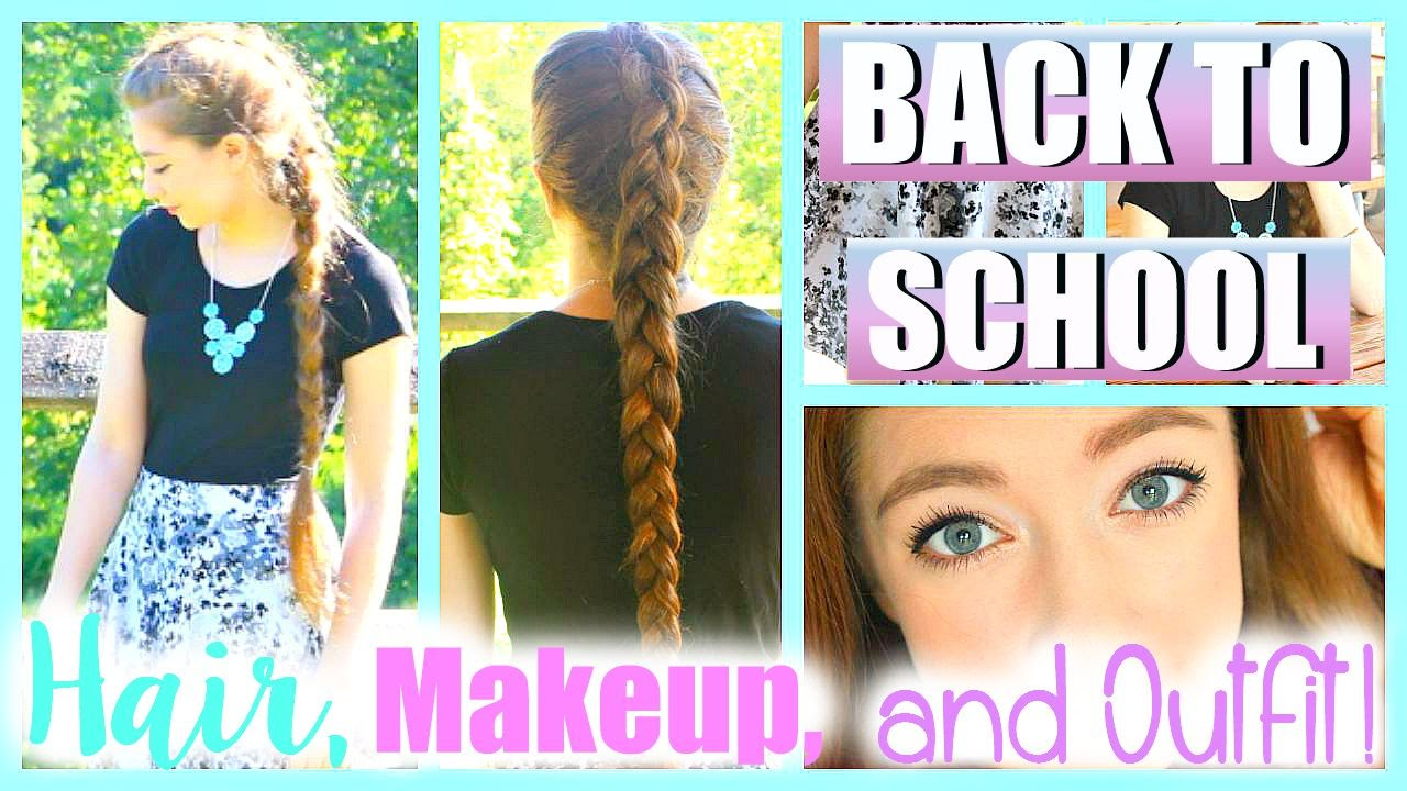 First Day Of School Hair Makeup And Outfit Ideas 2015! YouTube