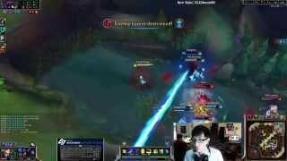 League of Legends nice outplay by Doublelift