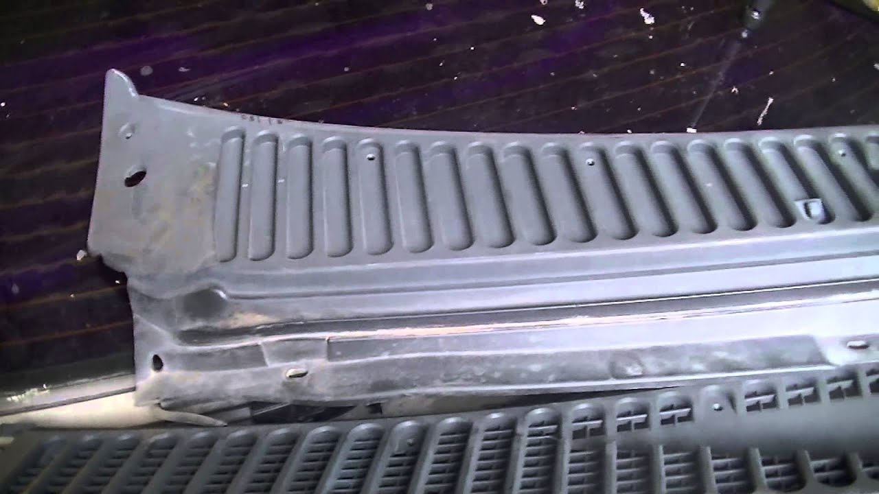 Howto Restoring Replacing Cowl On 2005 F250 Youtube