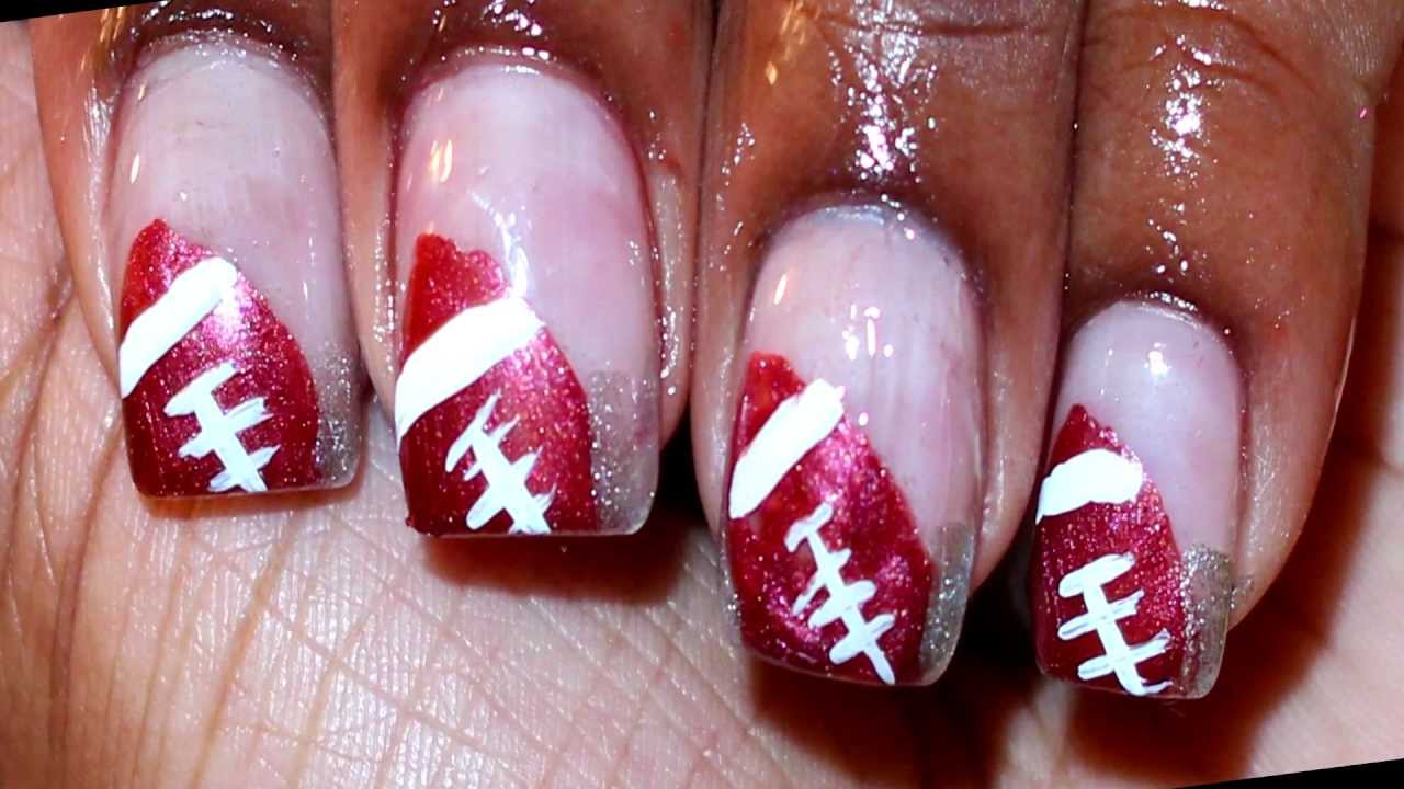 Football Nail Art Design - YouTube