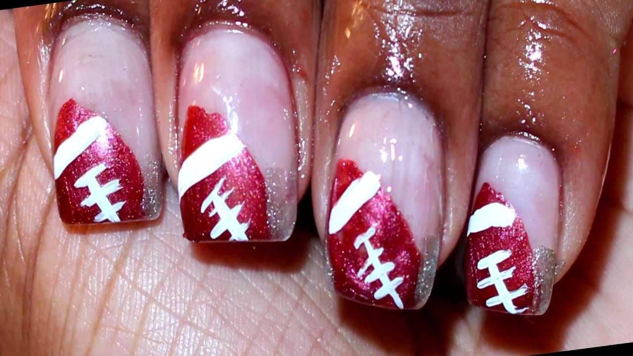 Football Nail Art Design - YouTube