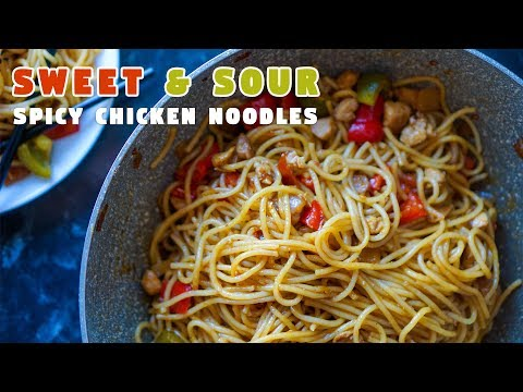 Sweet & Sour Spicy Chicken Noodles   Easy Ramadan Recipes   Hungry for Goodies