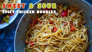 Sweet & Sour Spicy Chicken Noodles | Easy Ramadan Recipes | Hungry for Goodies
