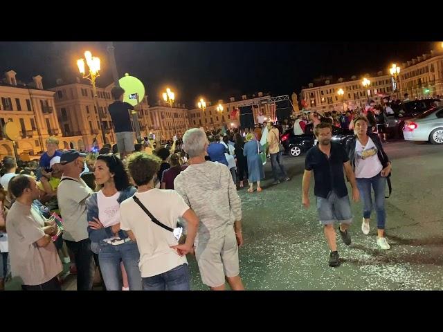 La sfilata a Cuneo per l'Italia campione d'Europa