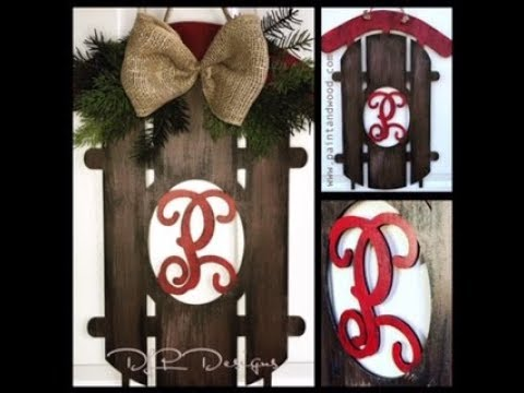 Snow Sled Door Hanger DIY Painting
