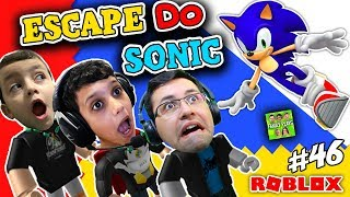 Roblox-who manages to escape SONIC?? (SONIC Obby Escape) Family Plays