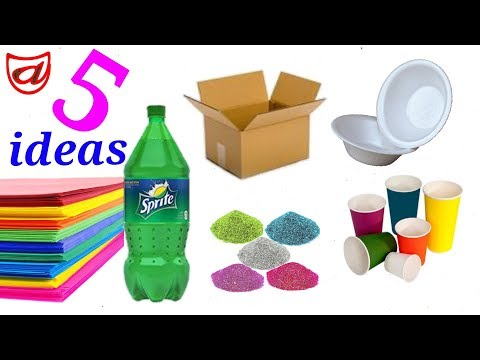 5 Best out of waste Ideas | DIY Showpiece making idea from useless things