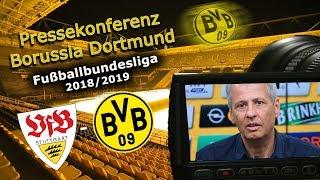VfB Stuttgart - Borussia Dortmund: Pk mit Lucien Favre und Michael Zorc