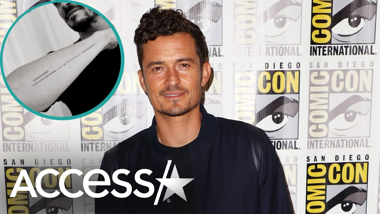 Orlando Bloom Gets A Misspelled Tattoo Of His Son's Name On Accident!