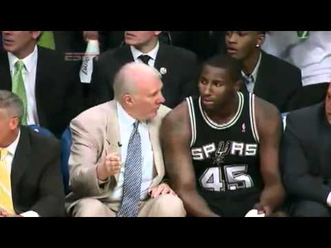 """Popovich Calls """"sweep The Leg"""" On Andrew Bynum And Grows A Beard"""