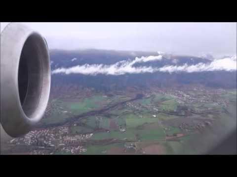 Swiss Avro RJ100 Takeoff Geneva Cointrin airport