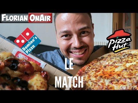 Le Match:  PIZZA HUT VS DOMINO'S - VLOG #395 thumbnail