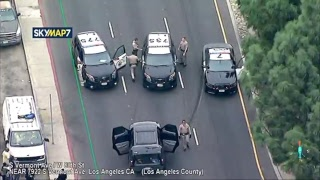 Watch Live: (ABC7 LA) Police chasing suspects in South LA area