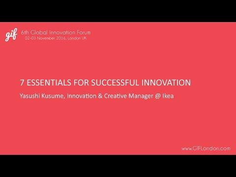 Design-led Innovation | Yasushi Kusume, IKEA | GIFLondon 2016
