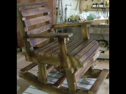 Cadeira de balanço de Paletes.