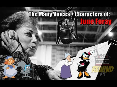 JUNE FORAY: The Many Voices / Characters of (Cartoon Voice Actor)