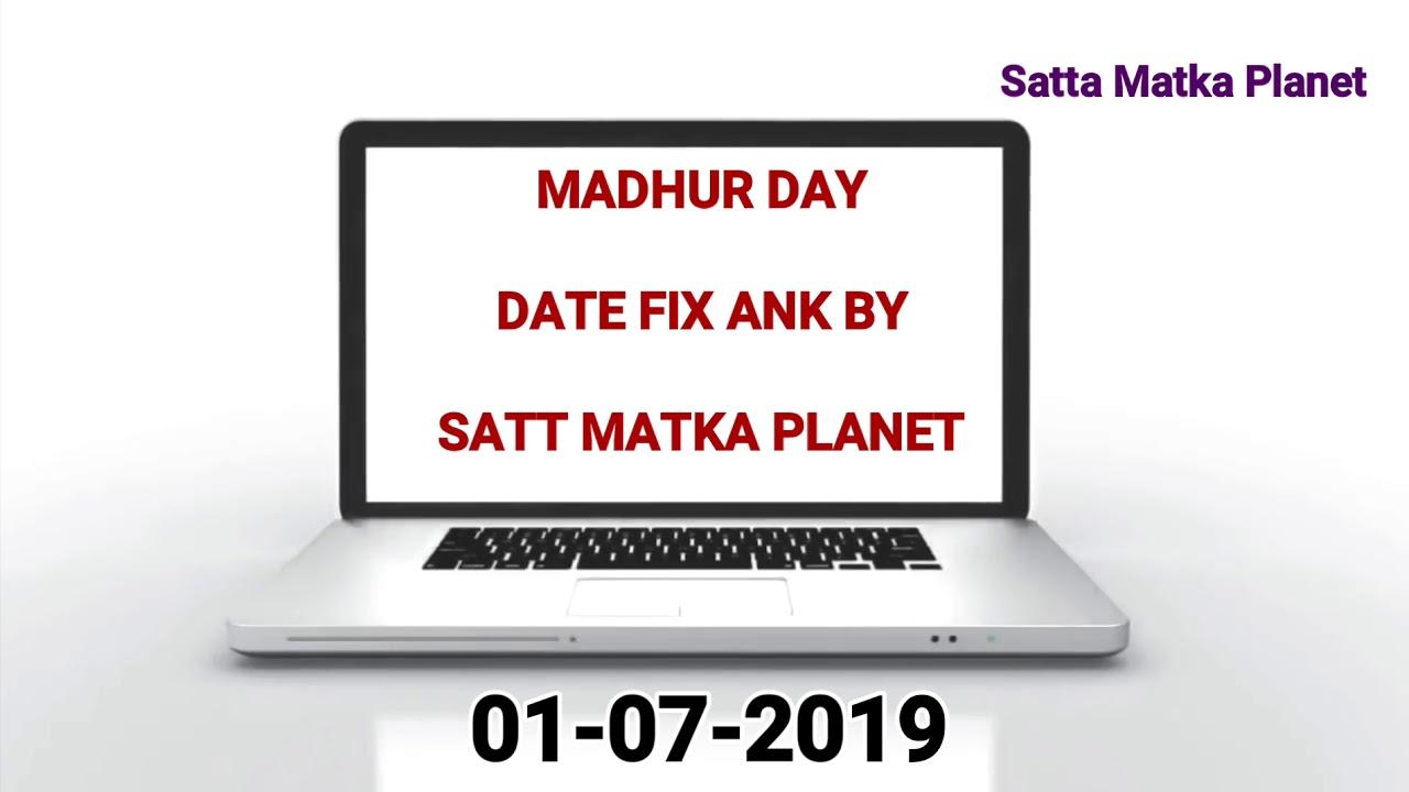 Madhur Day Date Fix Ank 01-07-2019 | Madhur Satta Matka | Madhur Matka  Result