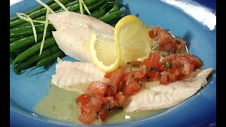 Poached Tilapia in Tomato Basil Sauce