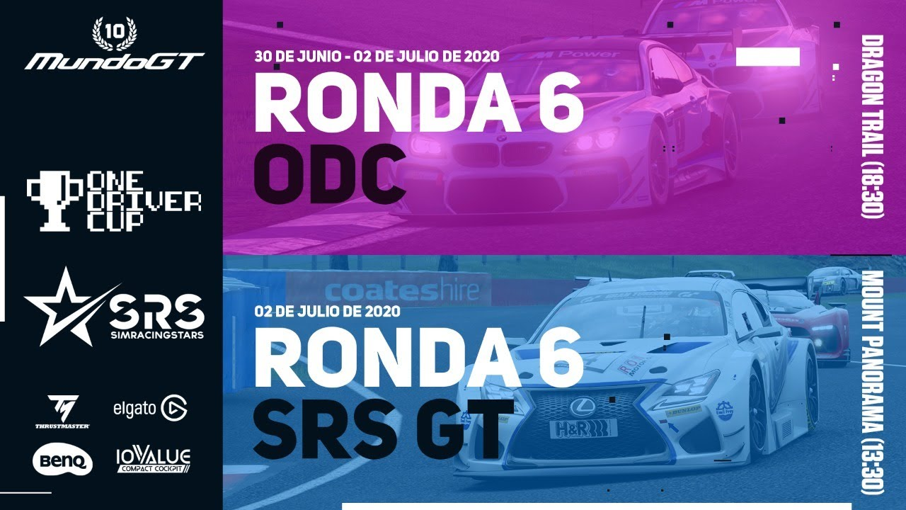 MundoGT #ODC R6A (Dragon Trail) & #SRSGT R6 (Mount Panorama) - GT Sport