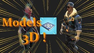 Models 3D Skin Fortnite 4.3