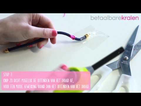 Sieraden maken: Hoe maak je een armband met macramé steek? ♡ DIY