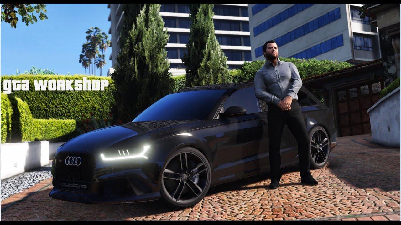 Grand Theft Auto Wallpaper Girl Gta V Micheal S New Car Audi Rs6 2016 Enb Pc Mod