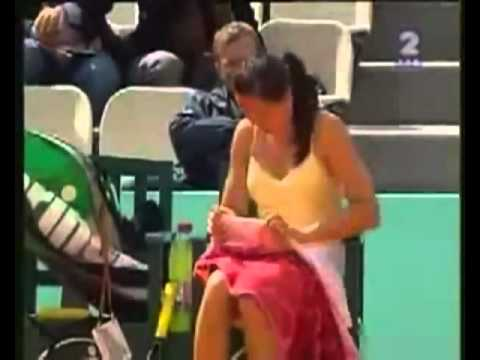 Tennis Player Changes Her Underwear Mid Match