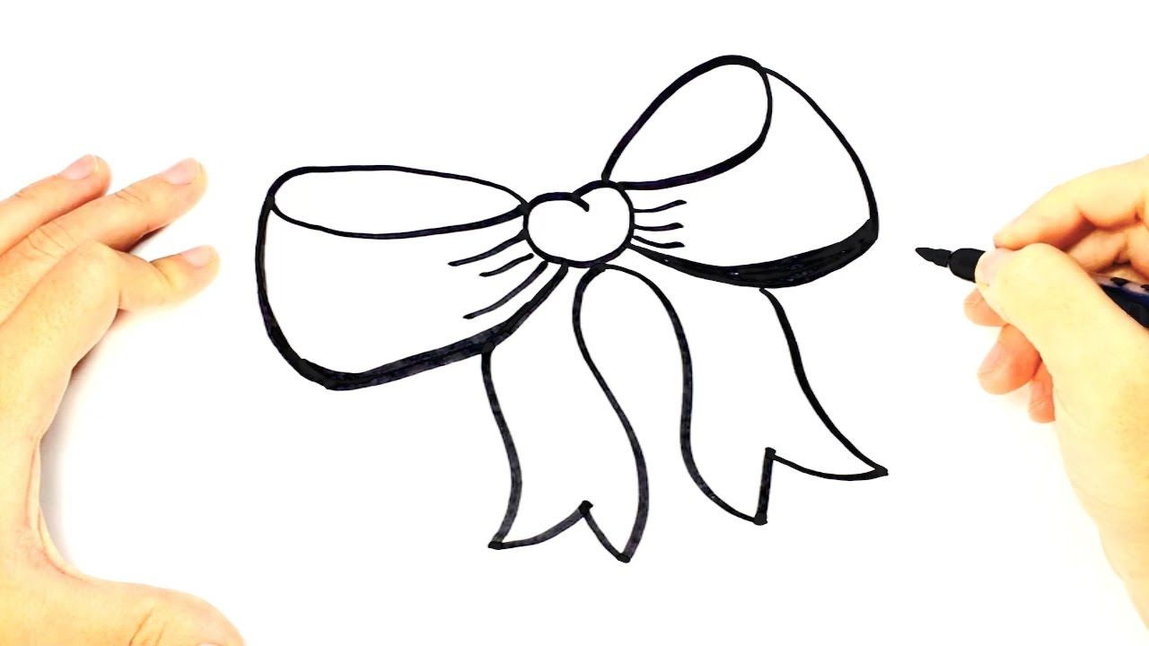 Cute Bow Tie Drawing How to draw a Bow tie ...