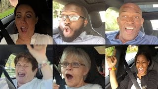 Tesla P85D Insane Mode Launch Reactions Compilation - Explicit Version(With a hidden camera installed, we take unsuspecting riders for an