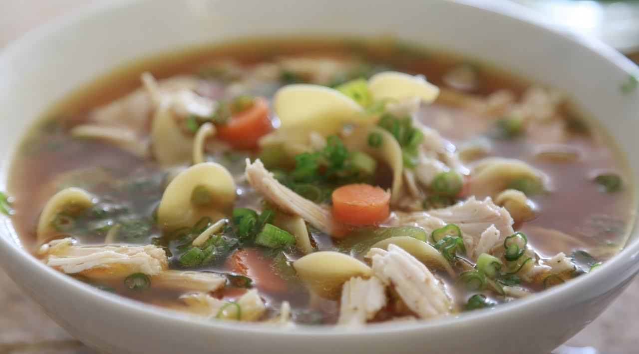 Chicken noodle soup byron talbott youtube for How do you make chicken noodle soup