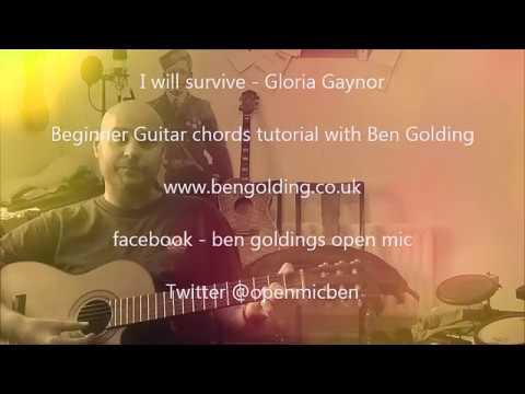 I will survive\' Beginner\'s Guitar Chords Tutorial - YouTube