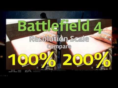 Battlefield 4 Resolution Scale 200 vs 100 vs 40 SHANGHAI 1 Sofa