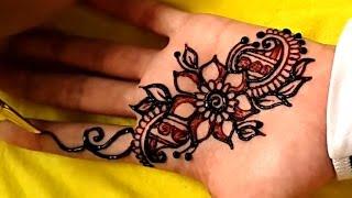 Gambar Henna Di Telapak Tangan Simple