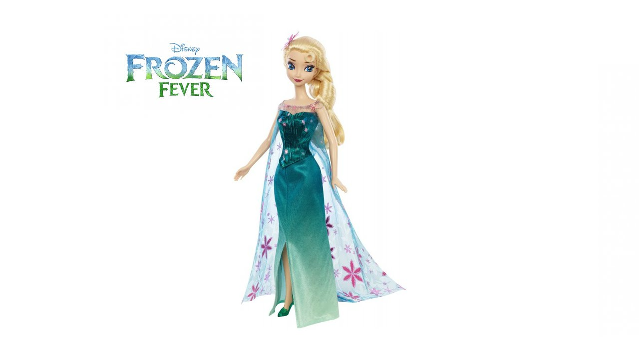 Disney Frozen Fever Birthday Party Elsa Doll Review - YouTube