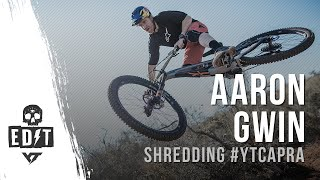 Aaron Gwin shredding the CAPRA CF PRO RACE in SOCAL