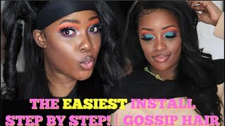 The EASIEST Way to Lay a Wig 4 Beginners + Fix Mistakes! | GOSSIP HAIR