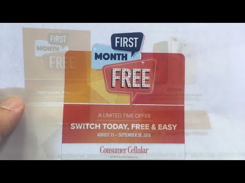 Consumer Cellular First Month Free Good Deal Here's Why!!