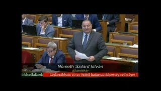 Németh Szilárd válasza Aradszki András napirend előtti felszólalására