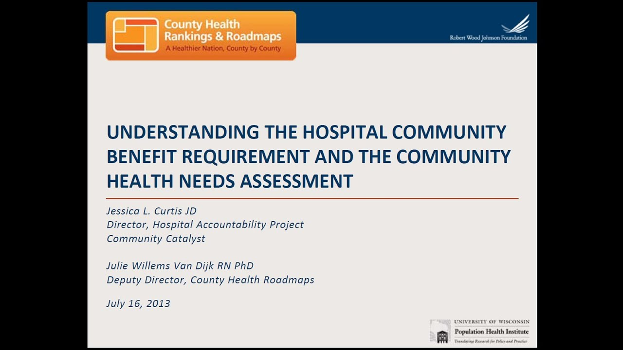 Understanding the Hospital Community Benefit Requirement and
