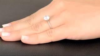 Enya's Round Cut Cubic Zirconia Engagement Ring - 2.25 Carats