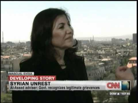 Hala Gorani CNN talks to Syria Government Spokeswoman June ...