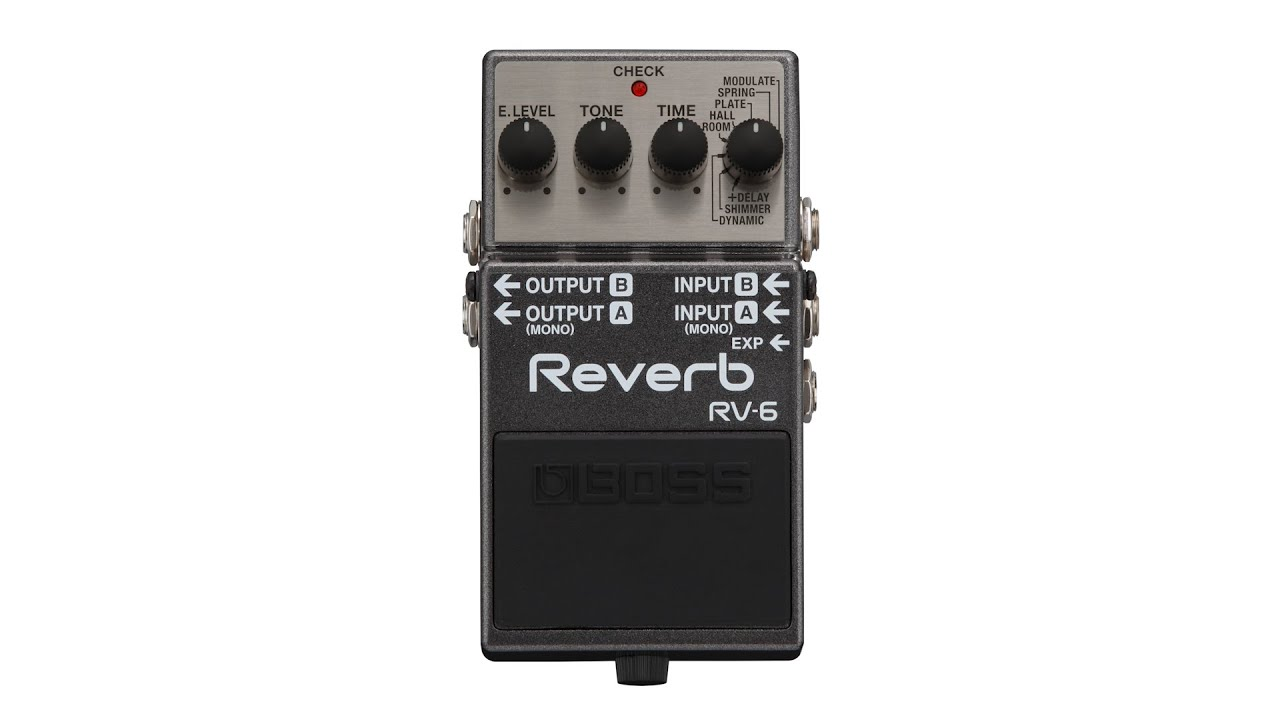 Boss Rv 6 Reverb Pedal Review By Sweetwater Youtube