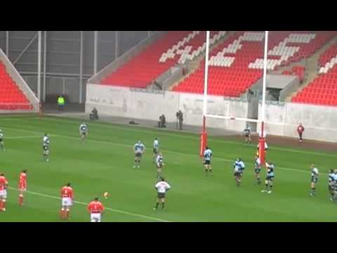 1st points scored at New Parc y Scarlets