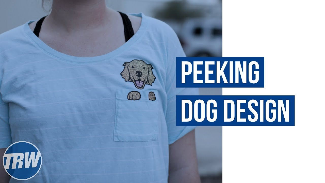 Creating A Peeking Dog Design For A Shirt Pocket In Coreldraw And