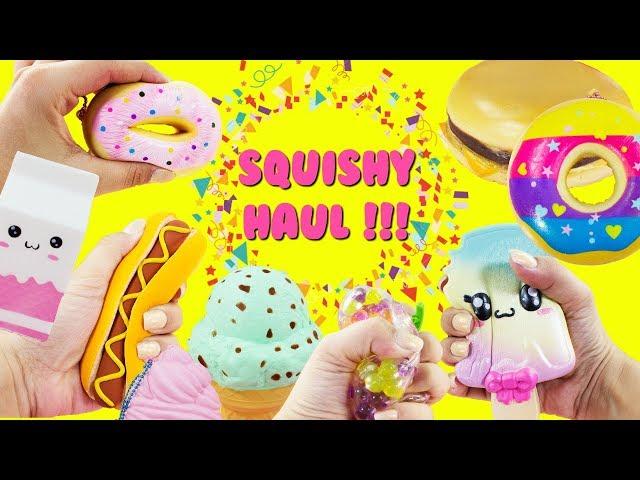 New Squishy Haul Unicorn Squishy Donuts Burger Hot Dog