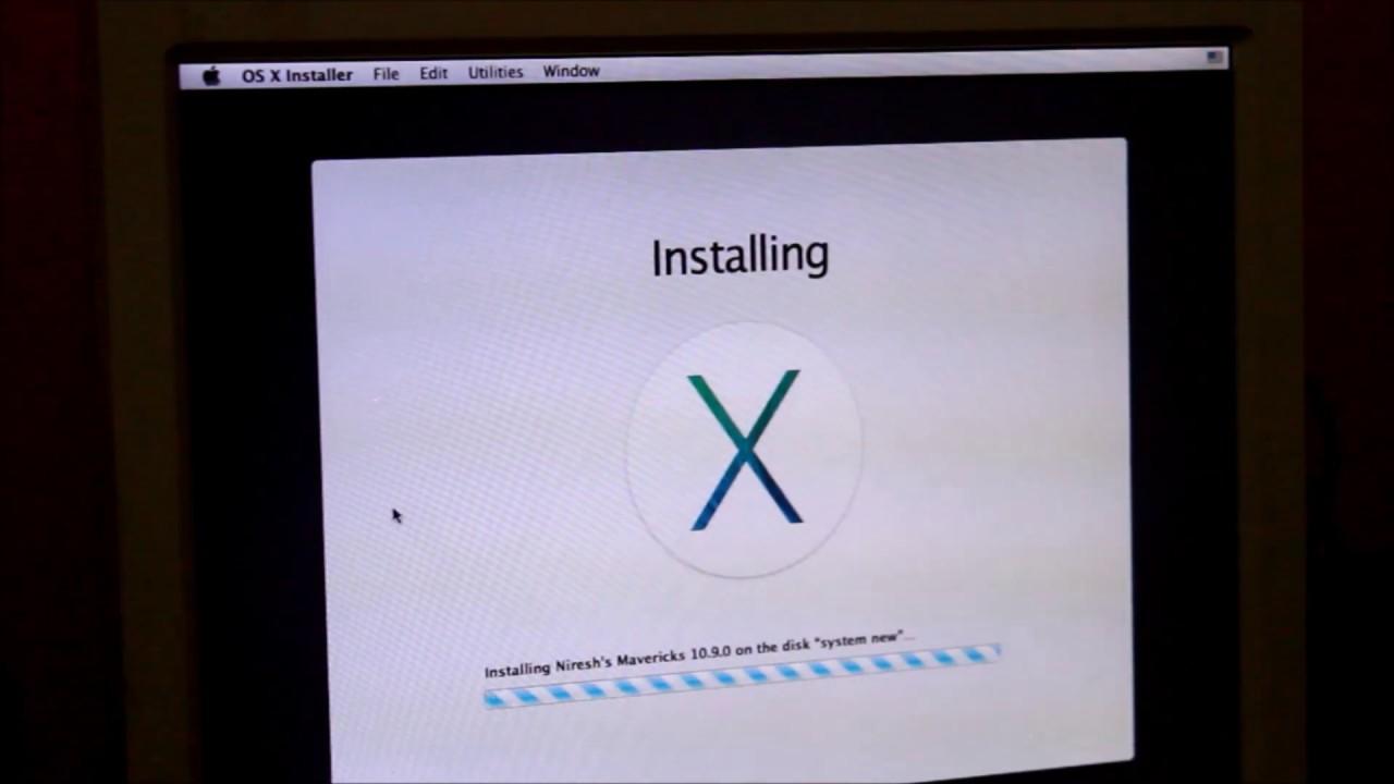 cara instal mac os di notebook acer