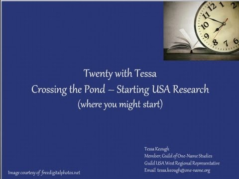 Starting Your ONS Research in the USA - A Few Thoughts