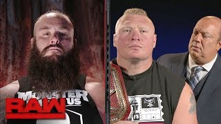 Michael Cole conducts a tense interview with Brock Lesnar and Braun Strowman: Raw, Sept. 18, 2017 thumbnail