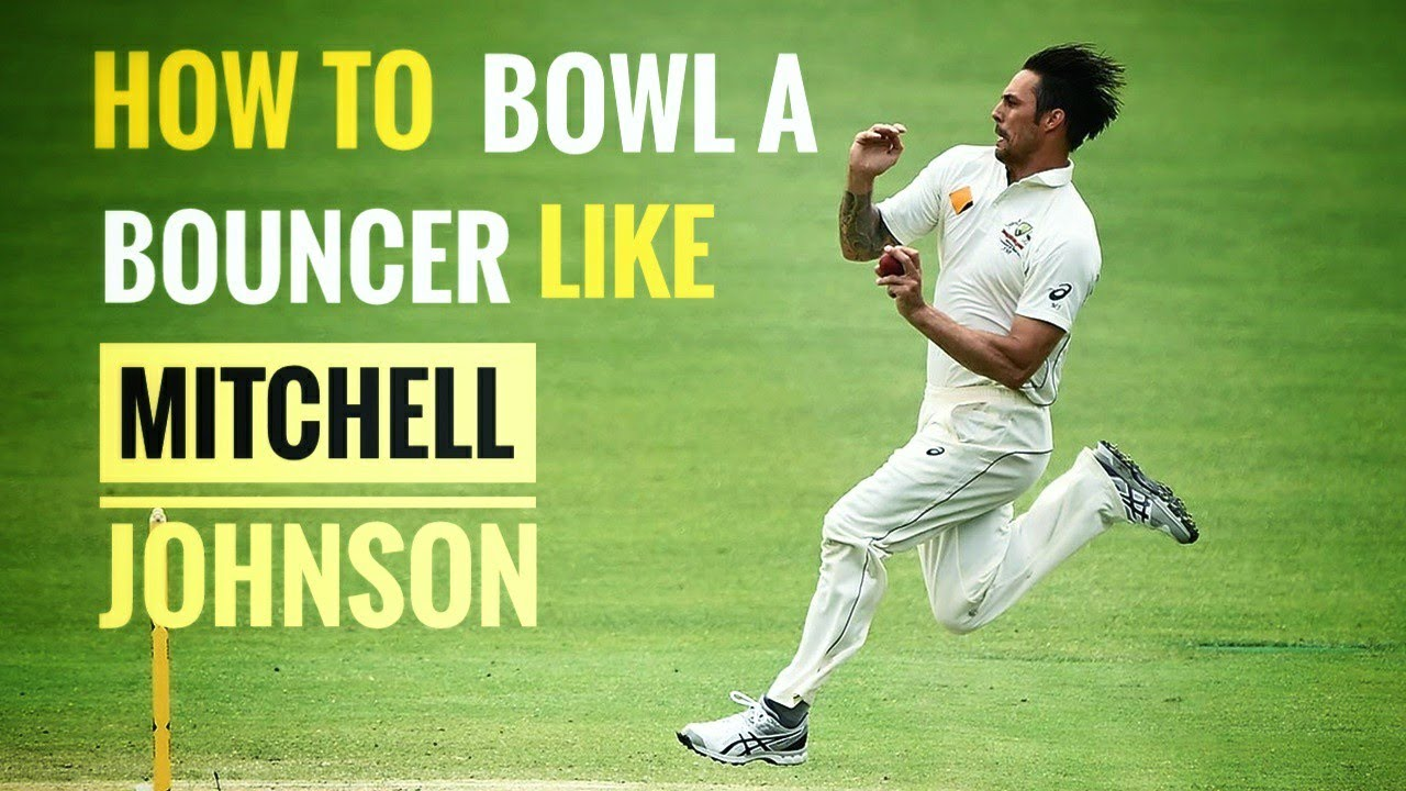 How to bowl a bouncer like Mitchell Johnson 🔥| Fast bowling Tips